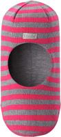 Купить Шапка-шлем детская Lassie, цвет: розовый, серый. 7187434400. Размер 44/46, Одежда для девочек