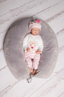Купить 40 недель Подушка для беременных и кормления цвет серый 170 х 30 см, Подушки