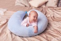 Купить 40 недель Подушка для беременных и кормления цвет синий 190 х 35 см, Подушки