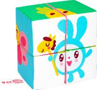 Купить Мякиши Кубики Собери Малышарика Кроша, Развивающие игрушки