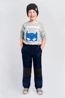Купить Брюки для мальчика Boom!, цвет: темно-синий. 80035_BOB. Размер 128, Одежда для мальчиков