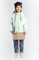 Купить Плащ для девочки Boom!, цвет: зеленый. 80002_BOG. Размер 116, Одежда для девочек