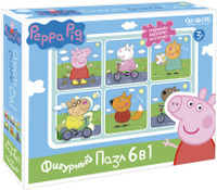 Купить Peppa Pig Пазл для малышей На прогулке 6 в 1, ООО Группа компаний Оригами , Обучение и развитие