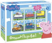Купить Peppa Pig Пазл для малышей Транспорт 6 в 1, Обучение и развитие