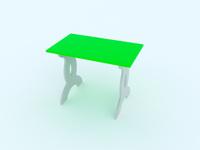 Купить Малина Стол детский Чудо-столик цвет зеленый, Столы и стулья