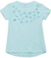 Купить Футболка для девочки Sela, цвет: голубой. Ts-611/1195-8131. Размер 128, Одежда для девочек