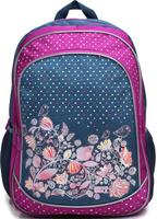 Купить 4ALL Рюкзак School цвет серый фиолетовый, Ранцы и рюкзаки