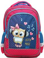 Купить 4ALL Рюкзак School цвет розовый, Ранцы и рюкзаки