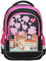 Купить 4ALL Рюкзак School цвет черный розовый, Ранцы и рюкзаки