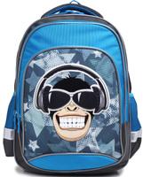 Купить 4ALL Рюкзак School цвет серый синий, Ранцы и рюкзаки
