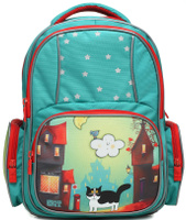 Купить 4ALL Рюкзак School цвет синий зеленый, Ранцы и рюкзаки