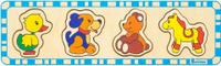 Купить Alatoys Пазл для малышей Медведь Утка Лошадь Собака, Обучение и развитие