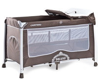 Купить Caretero Манеж-кроватка Deluxe цвет коричневый, Манежи