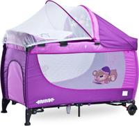 Купить Caretero Манеж-кроватка Grande цвет фиолетовый, Манежи