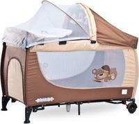 Купить Caretero Манеж-кроватка Grande цвет коричневый, Манежи