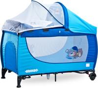 Купить Caretero Манеж-кроватка Grande цвет синий, Манежи