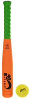 Купить Safsof Игровой набор Бейсбольная бита и мяч цвет оранжевый зеленый желтый, Спортивные игры