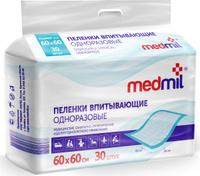 Купить Medmil Пеленка впитывающая одноразовая Оптима 60 х 60 см, 30 шт, Подгузники и пеленки