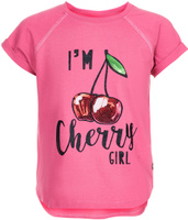 Купить Футболка для девочки Button Blue, цвет: розовый. 118BBGC12021200. Размер 98, Одежда для девочек