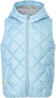 Купить Жилет утепленный для девочки Button Blue, цвет: голубой. 118BBGC47011800. Размер 116, Одежда для девочек