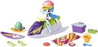 Купить My Little Pony Equestria Girls Игровой набор с мини-куклой Rainbow Dash Sporty Beach Set, Куклы и аксессуары