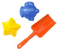 Купить Игрушки Поволжья Набор для песочницы 2 формочки и лопатка 16, 5 см, Игрушки для песочницы
