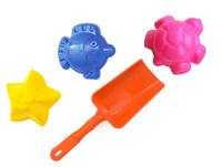 Купить Игрушки Поволжья Набор для песочницы 3 формочки и лопатка 16, 5 см, Игрушки для песочницы