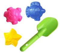 Купить Игрушки Поволжья Набор для песочницы 3 формочки и совочек 19 см, Игрушки для песочницы
