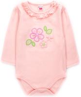 Купить Боди с длинным рукавом для девочки Unique, цвет: розовый. U003905. Размер 68, Одежда для новорожденных