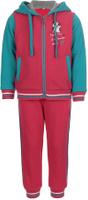 Купить Спортивный костюм для девочки Oldos Элиз, цвет: малиновый, бирюзовый. 5O8SU00. Размер 98, 3 года, Одежда для девочек