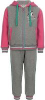 Купить Спортивный костюм для девочки Oldos Элиз, цвет: серый, розовый. 5O8SU00. Размер 98, 3 года, Одежда для девочек