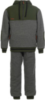Купить Спортивный костюм для мальчика Oldos Коул, цвет: темно-серый, зеленый. 5O8SU09. Размер 134, 9 лет, Одежда для мальчиков