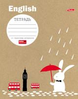 Купить Hatber Тетрадь Белый кролик Английский язык 48 листов в клетку, Тетради