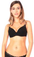 Купить Бюстгальтер для кормления Euromama Элизе, цвет: черный. ем6003. Размер 90C, Одежда для беременных