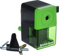 Купить Erich Krause Точилка механическая цвет черный зеленый, Чертежные принадлежности