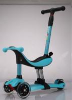 Купить Самокат детский Buggy Boom , трехколесный, трансформер, цвет: голубой, Самокаты