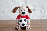 Купить Плюш Ленд Мягкая игрушка Собака с мячиком 25 см, Мягкие игрушки