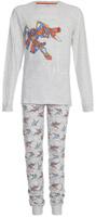 Купить Пижама для мальчика Sela: футболка с длинным рукавом, брюки, цвет: светло-серый меланж. PYb-7862/3174-8131. Размер 140/146, 10-12 лет, Одежда для мальчиков