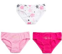 Купить Трусы для девочки PlayToday Home Розовая дымка, цвет: розовый, светло-розовый, белый, 3 шт. 186004. Размер 134/140, Одежда для девочек