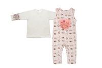 Купить Комплект одежды для девочки Мамуляндия: полукомбинезон, джемпер, цвет: светло-розовый. 17-18002. Размер 68, Одежда для новорожденных