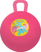 Купить Играем вместе Мяч-прыгунок Смешарики с ручкой цвет розовый 45 см, Батуты, попрыгуны