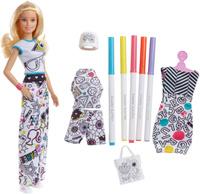 Купить Barbie Игровой набор с куклой Crayola Одежда-раскраска, Куклы и аксессуары