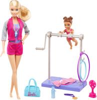 Купить Barbie Игровой набор с куклой Барби-гимнастка, Куклы и аксессуары