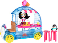 Купить Enchantimals Игровой набор с куклой Фургончик мороженого Прины Пингвины, Куклы и аксессуары