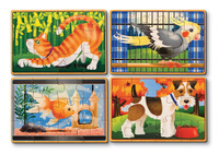 Купить Melissa & Doug Деревянные пазлы Домашние животные, Обучение и развитие