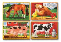 Купить Melissa & Doug Деревянные пазлы Животные с фермы, Обучение и развитие