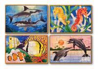 Купить Melissa & Doug Деревянные пазлы Подводная жизнь, Обучение и развитие
