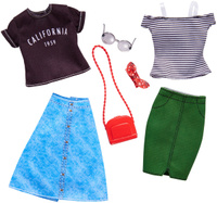 Купить Barbie Аксессуар для кукол Универсальные наряды 2 комплекта FKT27_FKT30, Куклы и аксессуары