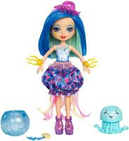 Купить Enchantimals Игровой набор с куклой Морские подружки с друзьями цвет синий, Куклы и аксессуары