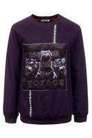 Купить Свитшот для мальчика M&D, цвет: фиолетовый. 182160101_12. Размер 152, Одежда для мальчиков